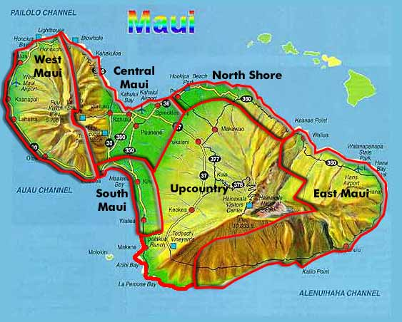 Hawaii Map Maui.Map Hawaii Maui