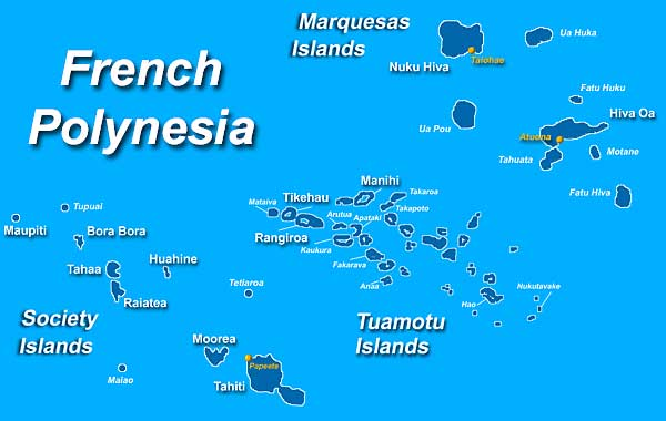 French polynesia on world map